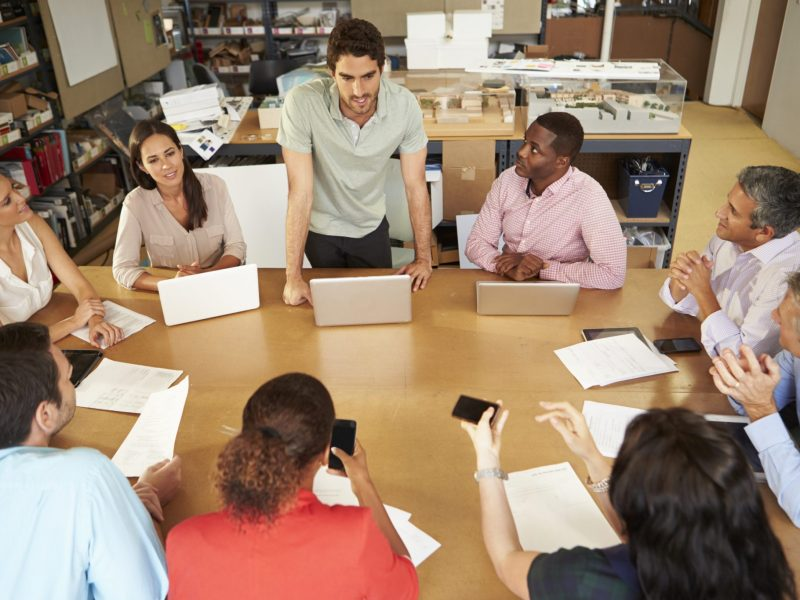Photo of people at a meeting